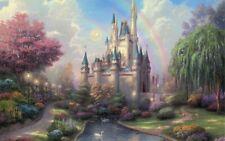 """Disney Castle   PICTURE CANVAS WALL ART 20""""X30"""""""