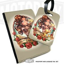Passport Cover & Luggage Tag - Belle Beige Tattoo - Disney Princess Rose