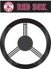 Boston Red Sox Steering Wheel Cover MLB Baseball Team Logo Poly Mesh