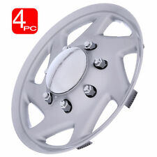 "16"" Hub Caps For FORD TRUCK ECONOLINE VAN Chrome Center/Silver Trim Wheel Covers"