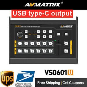 DHL Avmatrix VS0601U 6-Channel HDMI SDI USB Type-C Live Streaming Video Switcher