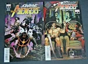 MARVEL SAVAGE AVENGERS # 16 AND MARVEL SAVAGE AVENGERS # 18 TWO BOOK LOT