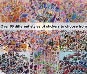 Children Stickers Sheets Party Bag 3D Puffy Scrap Book Cartoon Kids Disney