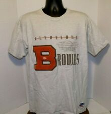 Cleveland Browns Nutmeg Varsity Letter B Print T-Shirt SZ XL USA MADE  VGC
