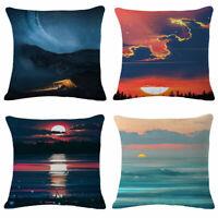 "18"" Starry Sky View Home Decor Cotton Linen Throw Pillow Case Cushion Cover"