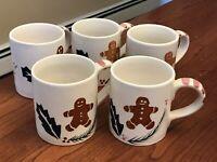 5 Gingerbread Man Woman Ceramic Mug Holly The Cook's Bazaar Gourmet Collection