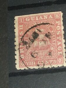 early British Guiana stamp pictured back & front  F