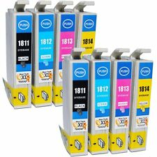 8-Pack 18XL Compatible Epson Expression Home XP-312 Ink Cartridges (NON OEM)