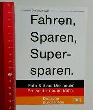 Aufkleber/Sticker: DB Deutsche Bundesbahn - Fahren Sparen (060716169)