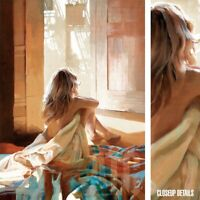 "26W""x36H"" A STILL AFTERNOON OF THE SATURDAY by ZHAOMING WU - BEDROOM NUDE CANVAS"