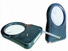 Lifemax Dual Light Magnifier Measuring Tape with Magnifying Glass & LED Light