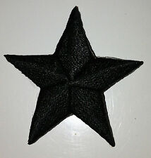 BLACK 1/2 inch iron on star patch applique kid patches embellishment - 239
