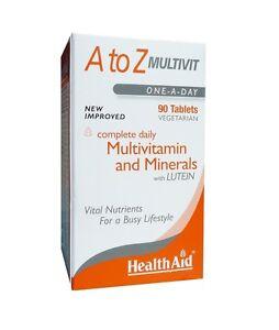 HEALTHAID A TO Z MULTIVIT 90 VEGETARIAN TABLETS - MULTIVITAMIN & MINERALS