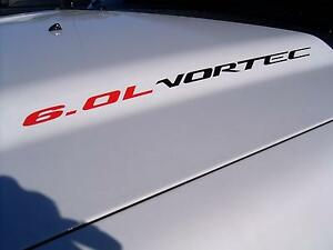 6.0L VORTEC (2) Hood sticker decals emblem Chevy Silverado GMC Sierra 2500 HD