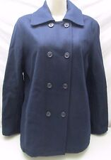 American Eagle Pea Coat Wool Blend Button Up Double Breasted Lined Women's M