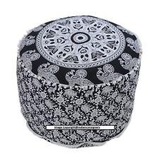 "Color White Ottoman Cover Footstool 22""Inch Pouf Art Beautiful Design Home Decor"