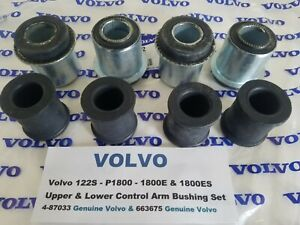 Volvo 122S - P1800 - 1800E & 1800ES Upper & Lower Control Arm Bushing Set
