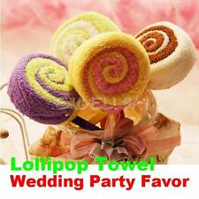 Towel Gift Lollipop Towel Small Washcloth Bridal Baby Shower Wedding Party Favor