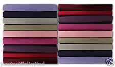 """Luxury PolyCotton Dyed Fitted Valance Sheets 11 Colors, Sheet Drop 23"""" Inch=59cm"""