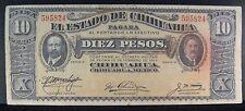 1914 (D) Mexico Revolution 10 Pesos Chihuahua State   ** FREE U.S. SHIPPING **
