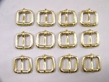 Leathercraft Buckles #50 Roller Buckle Solid Brass  3/4 Inch Size Quantity 12