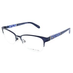 New Kate Spade Valary GF5 Black Metal Rectangle Eyeglasses 49mm