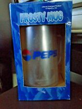 Pepsi Frosty Mug, Water Ice Cup, Freezer Plastic, Clear Cola Soda Pop Vintage