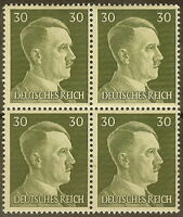 Stamp Germany Mi 794 Sc 519 Block 1941 WW2 3rd Reich Adolf Hitler German MNH