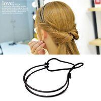 Fashion Women Hair Hoop Elastic Rope Head Band Double Layer