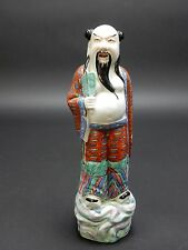 """Antique Chinese Famille Rose Statue of Sho Lu immortal 9.5"""" CHINA. Circa 1900"""