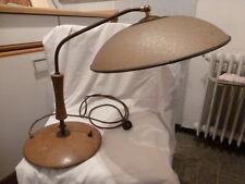 Lampe Tischlampe Holz Messing vintage Mid Century Design 60er desk lamp