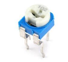 10pcs Rm065 Potentiometers Trimpot Blue White Variable Resistor Kit 102 1k Ohm