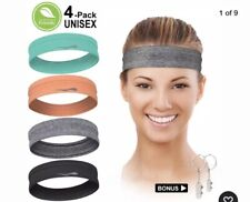 Luckygo Workout Headbands For Women Men, Highly Absorbent Non-Slip Sweatbands, S