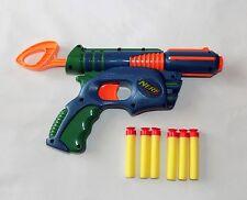 NERF TECH TARGET ELIMINATOR DART GUN PULL BACK PISTOL WITH 6 DARTS