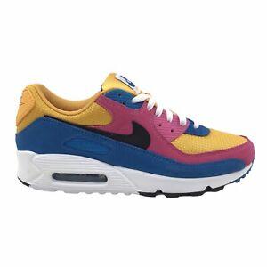 Nike Air Max 90 Mens Shoes Size US 9 UK 8 | University Gold Pink Black Sneakers
