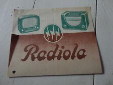 ancien prospectus publicitaire radio radiola n°2