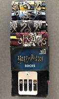 4 Paar Harry Potter Damen Socken Hogwarts Wappen Strümpfe Schwarz 37-42 Primark