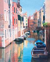 Margaret Heath - Venice, Canal Reflections - Ready Framed Canvas 40x50cm