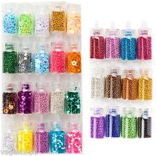 Nail Art Glitters Caviar Beads Mini Pearls Sparkles Set Decorations Designs DIY