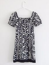 Max and Cleo BCBG Size 2 Sheath dress Excellent career Cocktail Black White