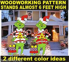 GRINCH IN UGLY SWEATER YARD ART PATTERN WOOD WORKING patternsrus.com