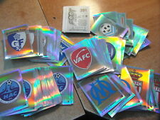 (MC) FOOTBALL STICKERS PANINI FOOT 2009 FRANCE ECUSSONS BADGES voir liste