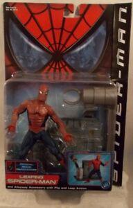 Spider-Man Movie Leaping Spider-Man Tobey McGuire With Flip & Leap Action ToyBiz