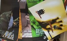 10 diff U. S. MARINE CORPS RECRUITING POSTERS 12 DIFF IMAGES EGA BOOT CAMP