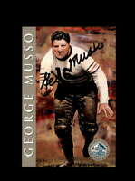 George Musso SGC Mint 9 1998 HOF Signature Series Chicago Bears Autograph