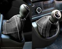 VW Transporter T6 INKA Gear Shift Knob Boot Gaiter Cover GTI Tartan Dark Grey