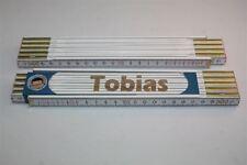 Zollstock mit  NAMEN      TOBIAS       Lasergravur 2 Meter Handwerkerqualität