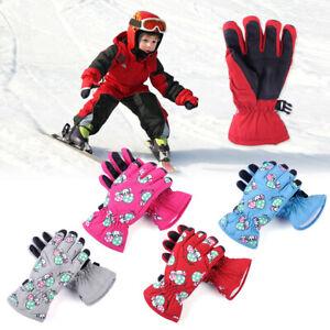 Kids Mushroom Warm Gloves Thermal Winter Outdoor Sport Snow Ski Boy Girl Child