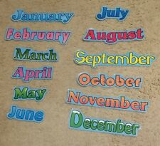 Teacher Laminated Bulletin Board Months Of The Year