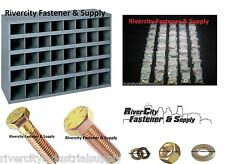 Grade 8 Coarse Bolt Nut & Washer Assortment 1496 Pieces With A Metal 40 Hole Bin